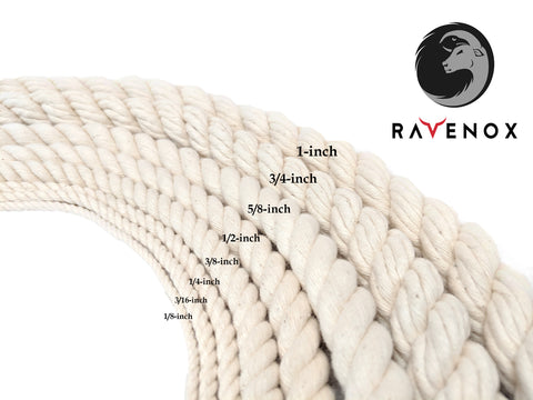 Ravenox-Rope-Cord-Twisted-Cotton-Rope-Twine-100-percent-cotton-natural-white-all-diameters-with-written-diameters