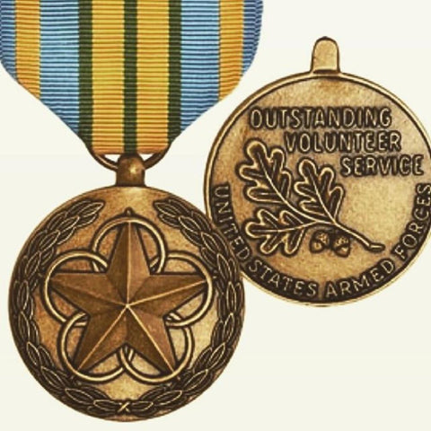 Outstanding Volunteer Service Medal from the United States Armed Forces