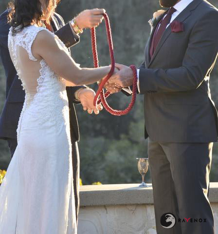 Ravenox Twisted Cotton Burgundy Rope for Handfasting Ceremony in Church Wedding