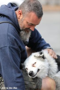 Veteran and his Service Dog From Operation Freedom Paws.
