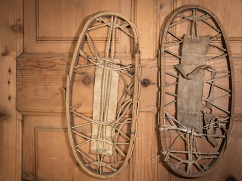 Snow Shoes Crafted from Cord and Wood