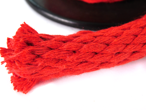 Ravenox Solid Braid Rope in Red