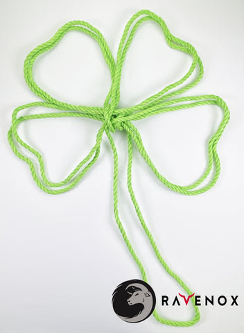 Ravenox Twisted Lime Green Cotton Rope Shamrock Leaf for Holiday Wreath Saint Patrick's Day