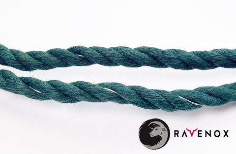 Ravenox Twisted Green Cotton Rope Wrapped in Wire for Shamrock Wreath