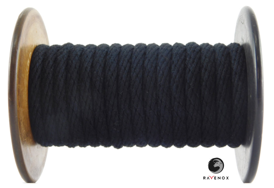 Ravenox_Black_Solid_Braid_Cotton_Rope_for_Macrame_Weddings_Events_Pet_Lovers_Dog_Leashes