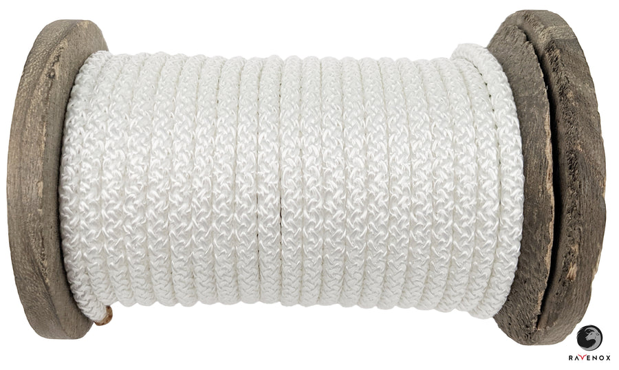 Knit Braid Polyester Rope (White)