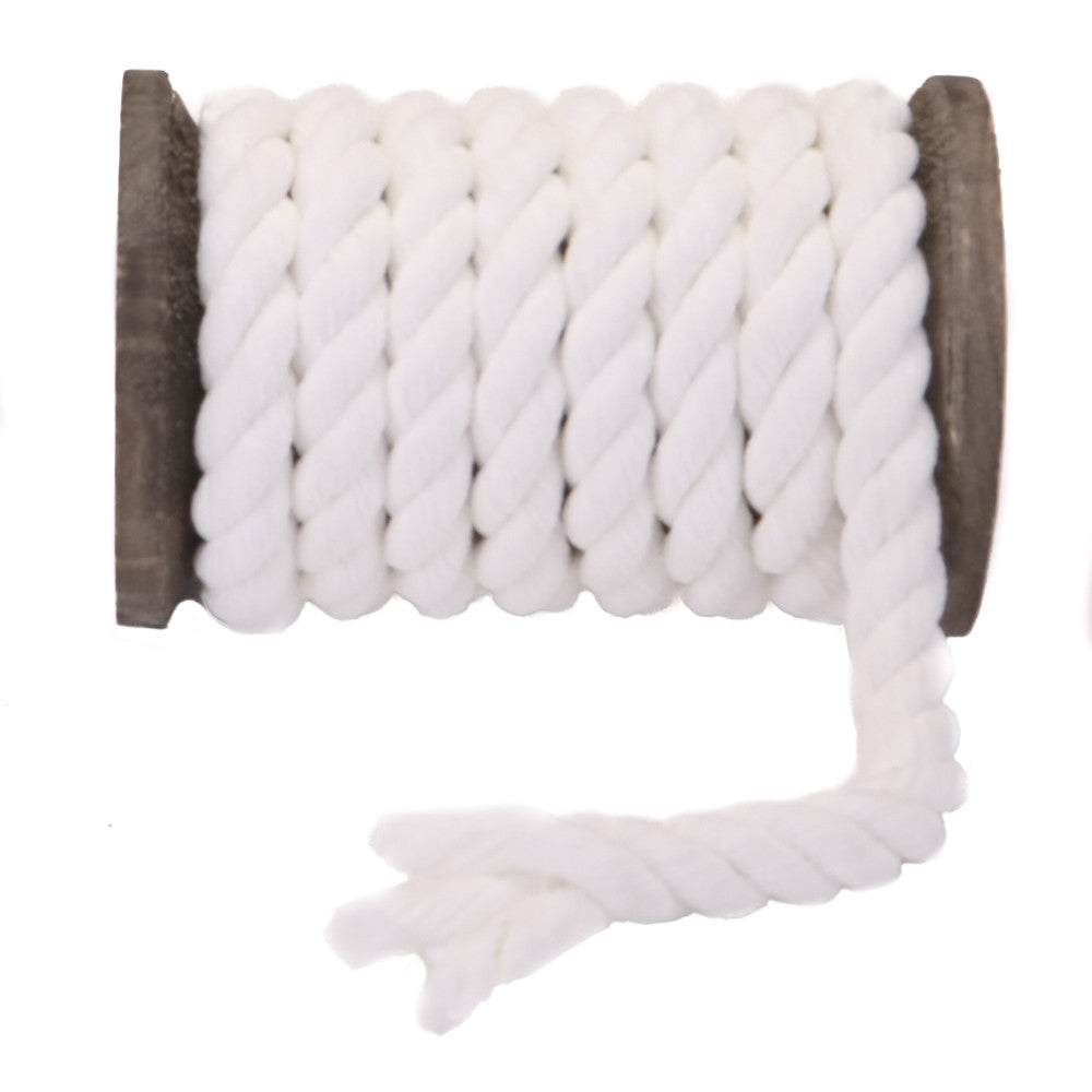Twisted Chenille Rope (White)