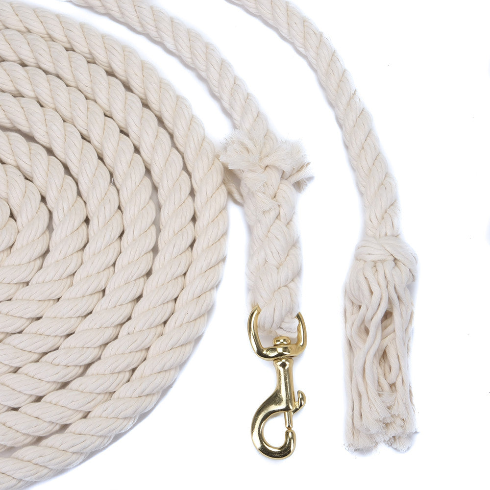 FMS 10 Foot 3/4-Inch Cotton Rope Horse Leads (Bolt Snap or Bull Snap)(1 or 2 Pack)