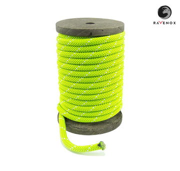 Ravenox_Lime_Green_Nylon_Kernmantle_Composite_Accessory_Cord_for_ cordelettes_ice_threads_towlines