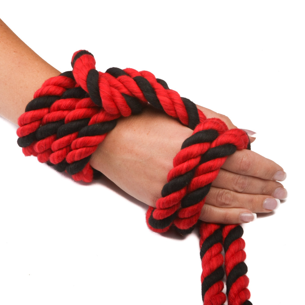 Twisted Cotton Rope (Red, Red & Black)