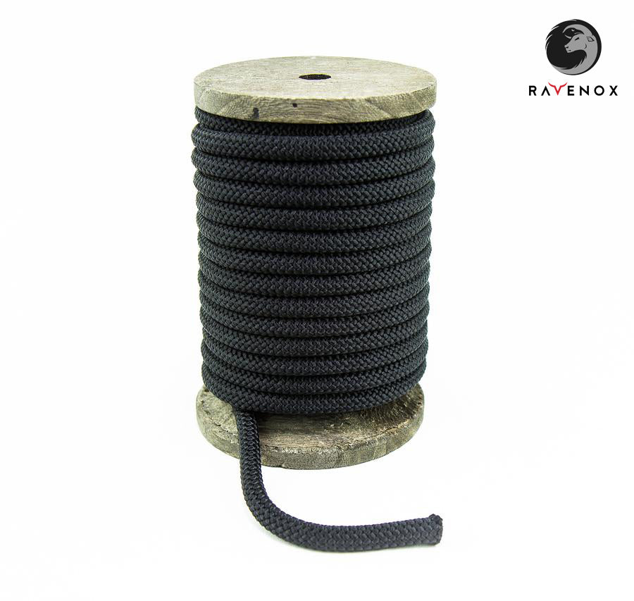 Ravenox_Black_Nylon_Kernmantle_Composite_Accessory_Cord_for_ cordelettes_ice_threads_towlines