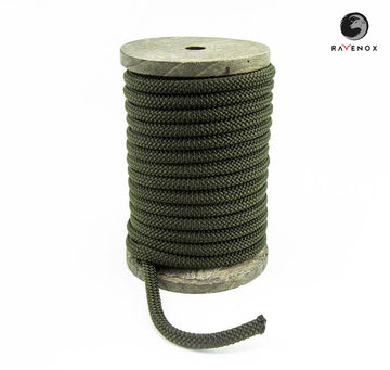 Ravenox_Olive_Green_Nylon_Kernmantle_Composite_Accessory_Cord_for_ cordelettes_ice_threads_towlines