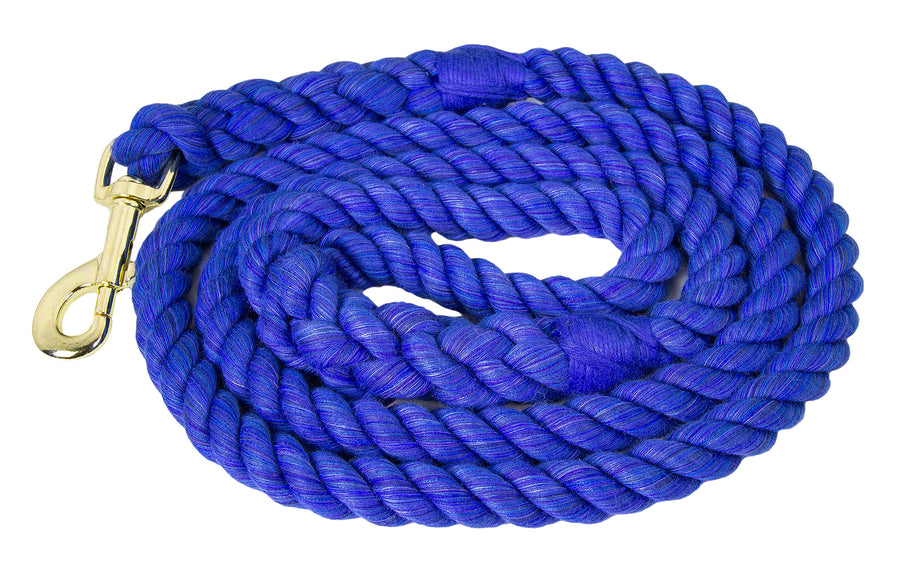 Ravenox Twisted Cotton Rope Dog Leash Walking Dogs Lead Lines Puppies Training Royal Blue