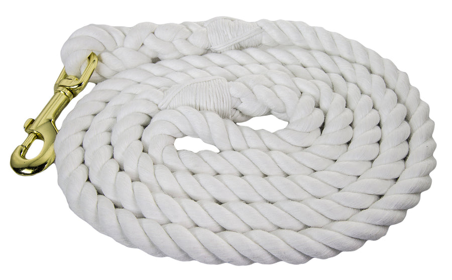 Ravenox Twisted Cotton Rope Dog Leash Walking Dogs Lead Lines Puppies Training Snow White