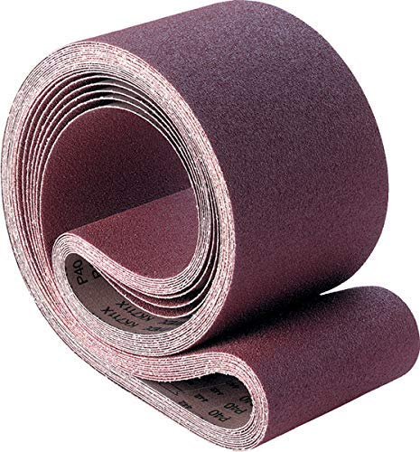 PFERD 49144 Coated Abrasive Benchstand Belt, 2-in Width x 60-in Length, Coarse, Aluminum Oxide A Abrasive (Case of 10 Belts) (60 Grit)