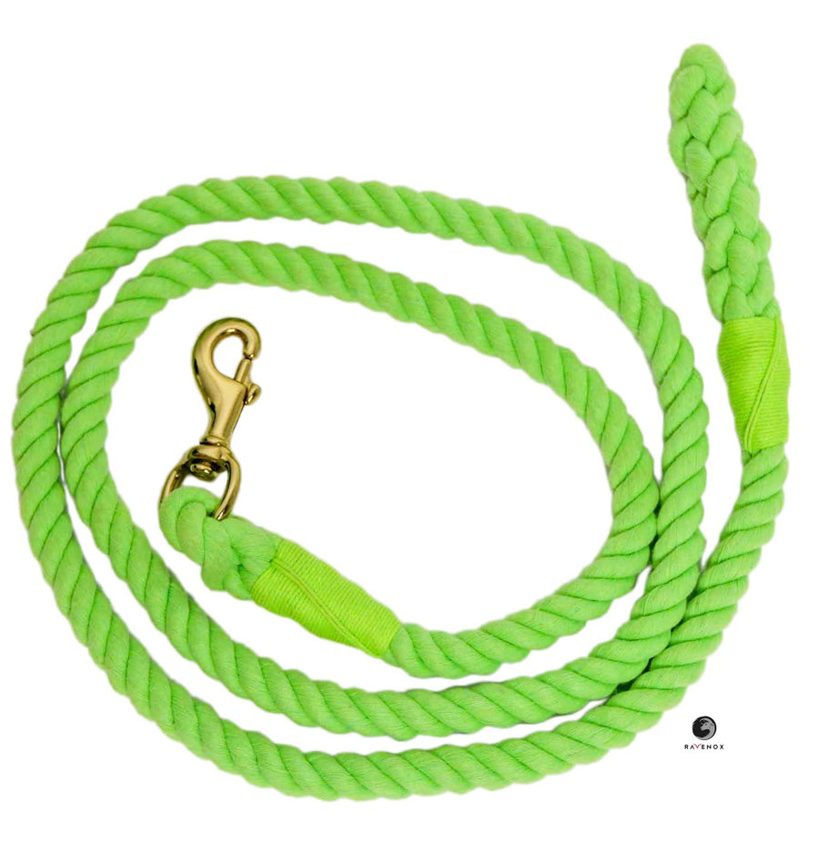 Cotton Lead Ropes & Lead Lines - Lime Green Rope