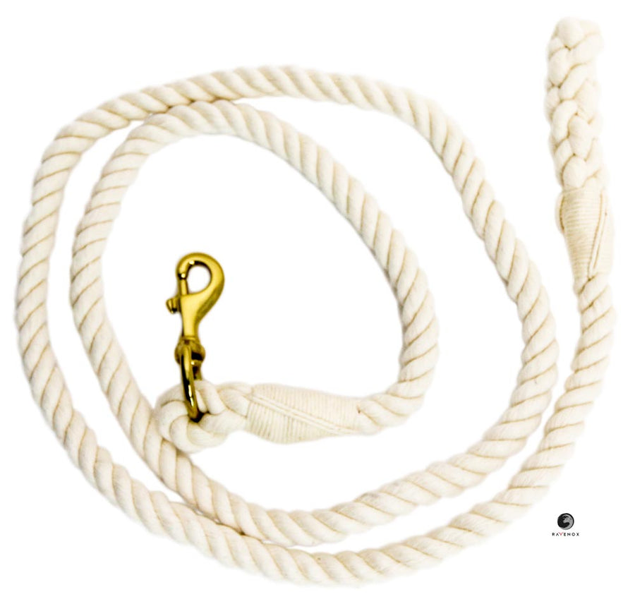 Cotton Lead Ropes & Lead Lines - 100% Cotton Natural White Rope