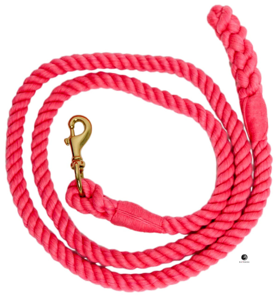 Cotton Lead Ropes & Lead Lines - Hot Pink Rope