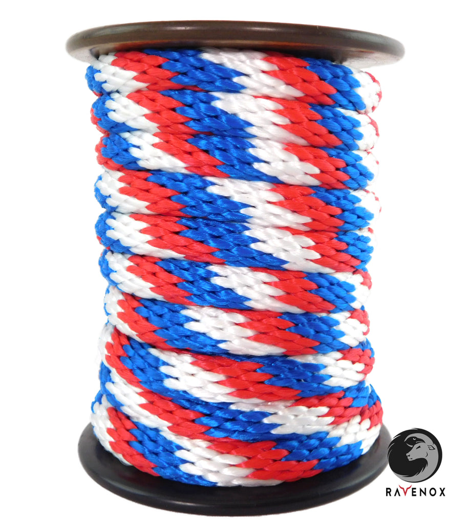 Solid Braid MFP Derby Utility Rope (Red, White & Blue)