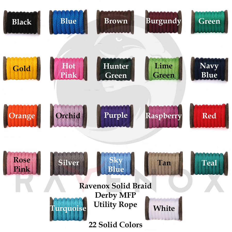 Ravenox Solid Braid Polypropylene Color Swatch Card