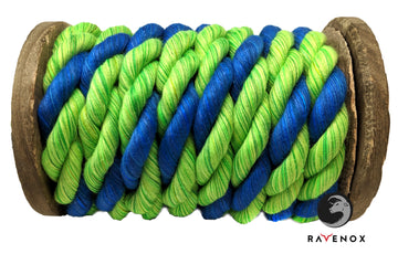 Twisted Cotton Rope (Lime. Lime & Royal Blue)