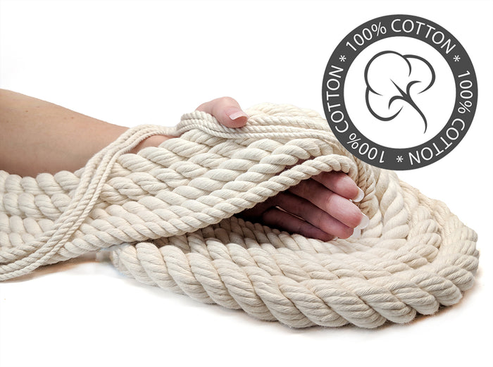 100% Cotton Twisted Cotton Rope & Twine (Natural White)