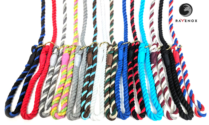 Handmade Cotton Slip Lead Dog Leash