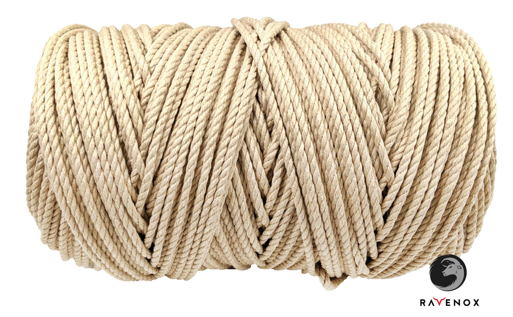 Twisted Cotton Seil an Twine (Tan)