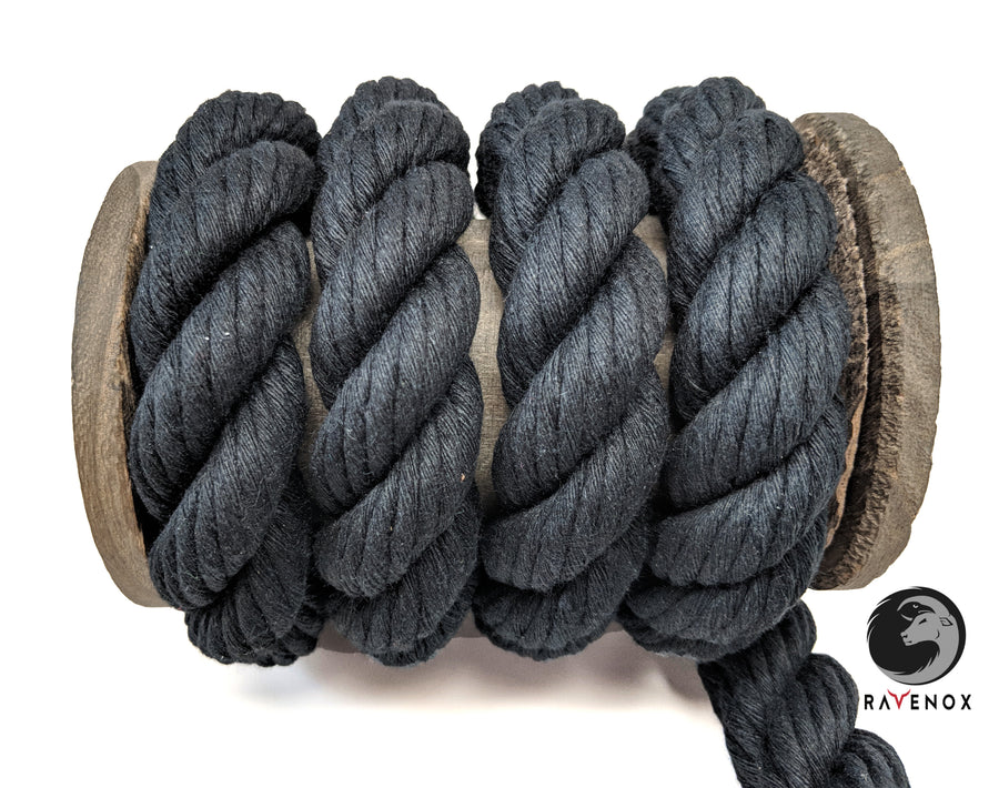 Twisted Cotton Rope & Twine (Black)