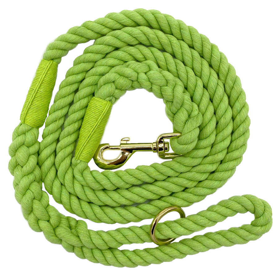 Ravenox Twisted Cotton Rope Dog Leash Walking Dogs Lead Lines Puppies Training Lime Green