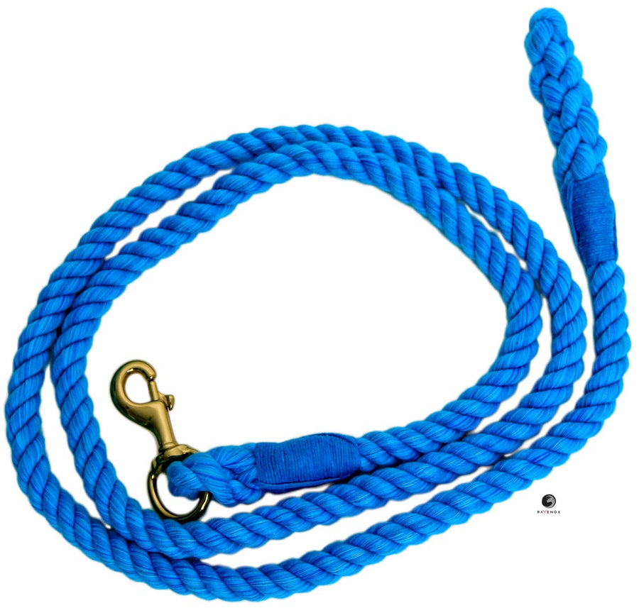 Cotton Lead Ropes & Lead Lines - Turquoise Rope