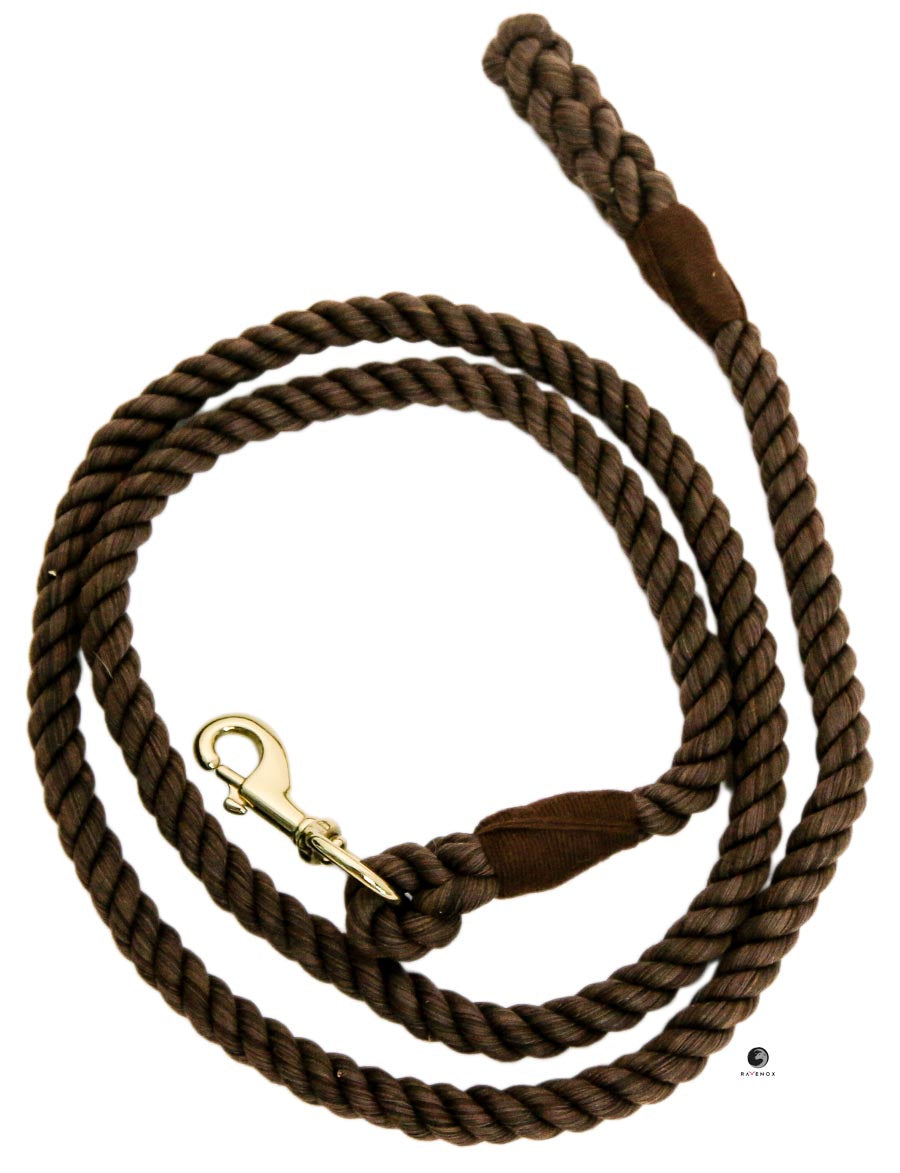 Cotton Lead Ropes & Lead Lines - Brown Rope