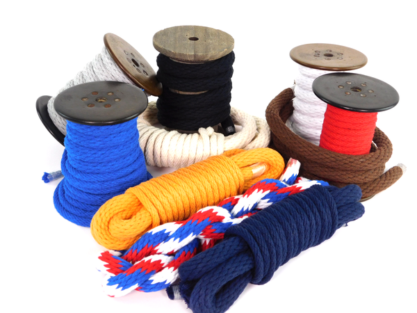 Solid Braid Cotton Rope (Red, White & Blue)