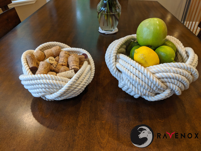 Twisted Cotton Rope Bowls