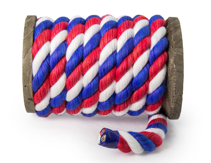 Twisted Cotton Rope (Red, Snow White & Royal Blue)
