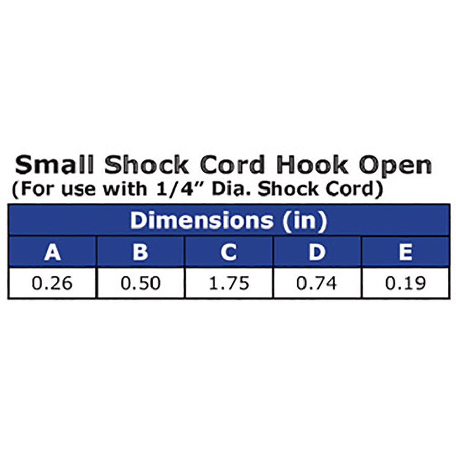 Ravenox_Small_Shock_Cord_Bungee_Hooks_Made_in_America_Tough_Secure_Open_Dimensions