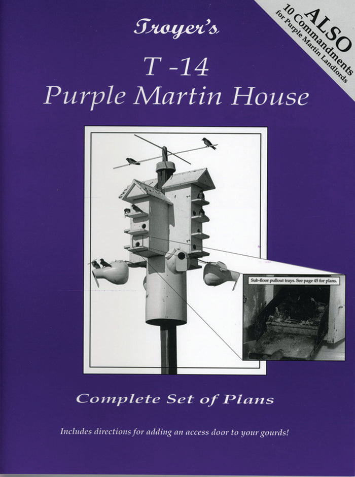Leabhrán - T-14 Purple Martin House Plans