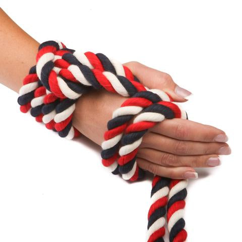 Twisted Cotton Rope (Red, Natural White & Navy Blue)