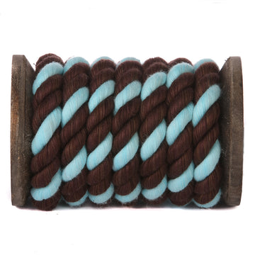 Twisted Cotton Rope (Brown, Brown & Aqua)