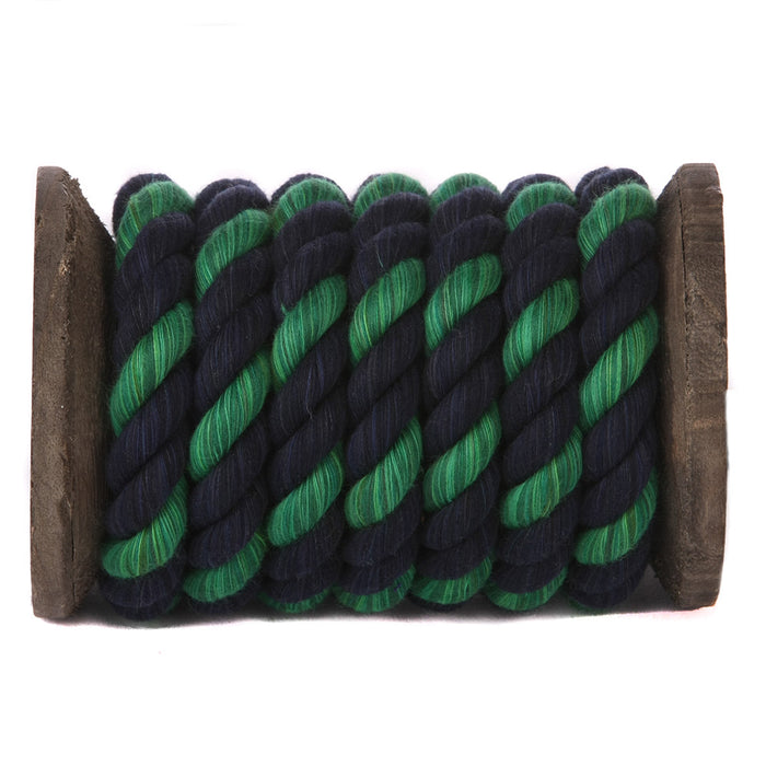 Twisted Cotton Rope (Navy Blue, Navy Blue & Green)
