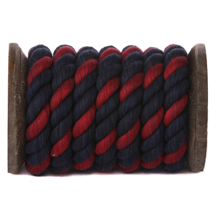Twisted Cotton Rope (Navy Blue, Navy Blue & Burgundy)