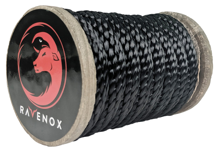 Solid Braid Polyester Rope (Black)