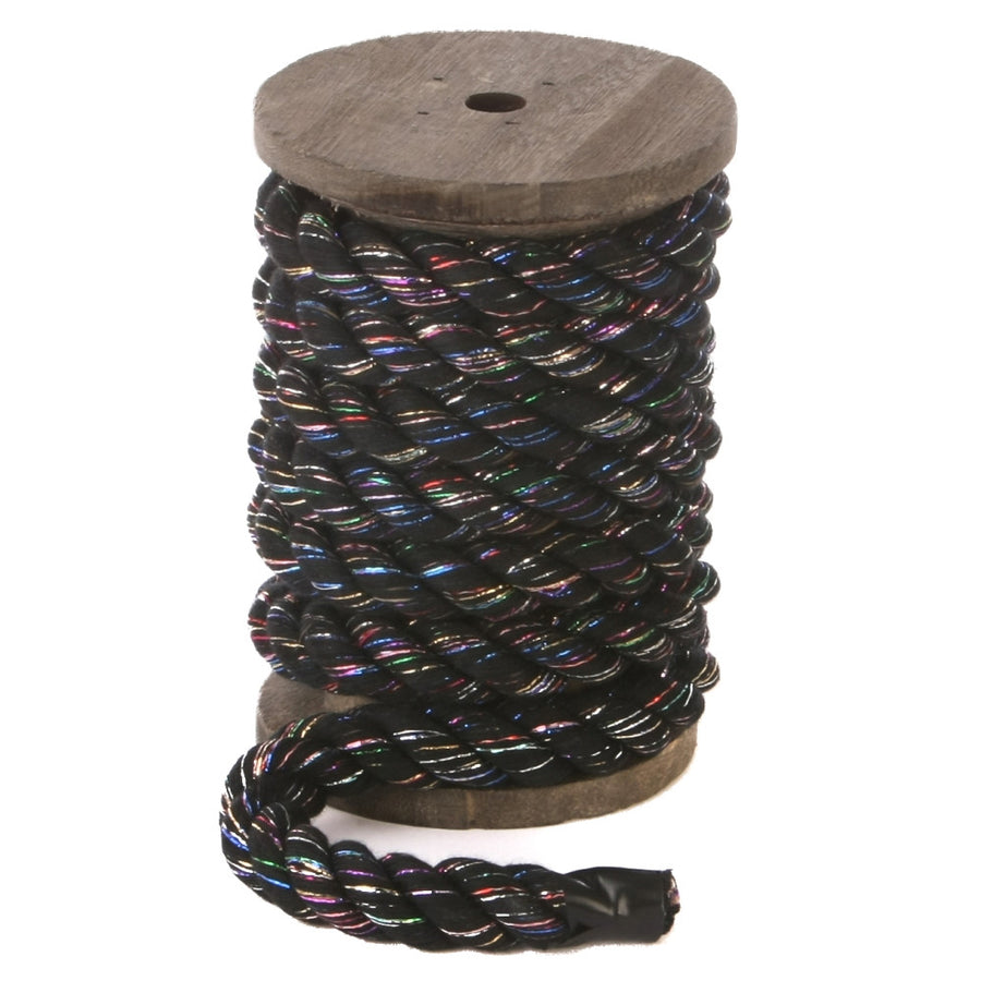 Twisted Cotton Rope (Black Glitter)