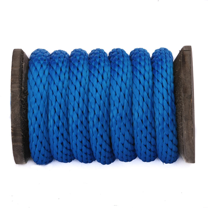 Solid Braid Polypropylene Utility Rope (Blue)