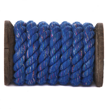 Twisted Cotton Rope (Royal Blue Glitter)
