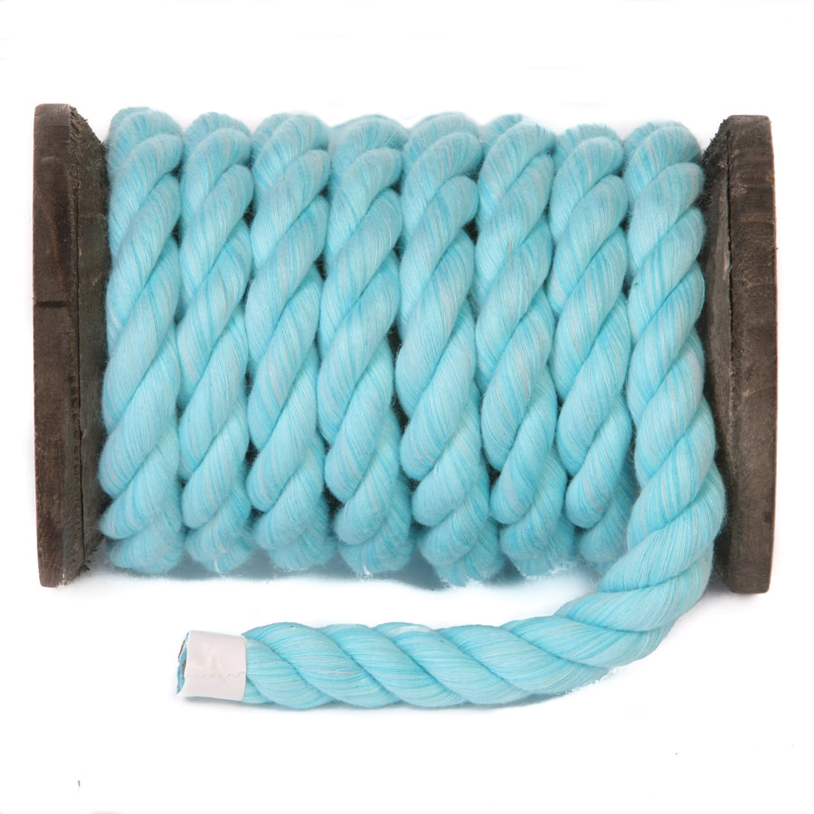 Twisted Cotton Rope (Aqua)
