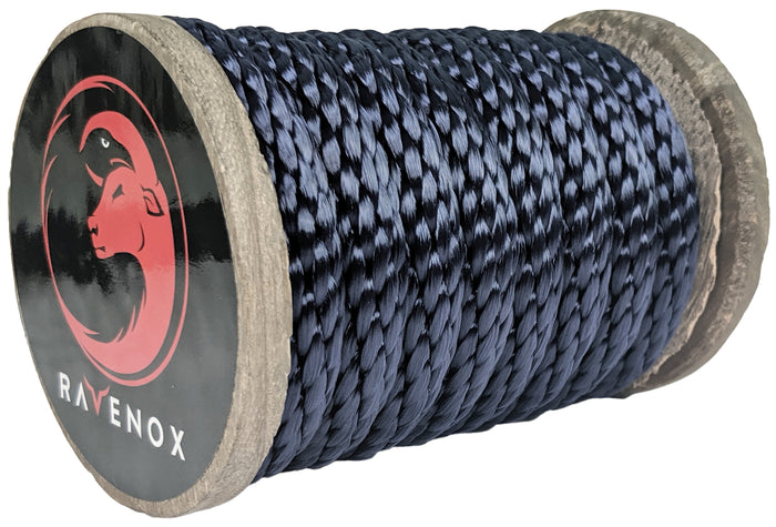 Solid Braid Polyester Rope (Navy Blue)