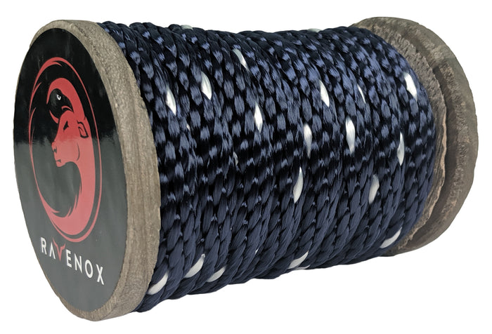 Solid Braid Polyester Rope (Navy Blue neTracer)