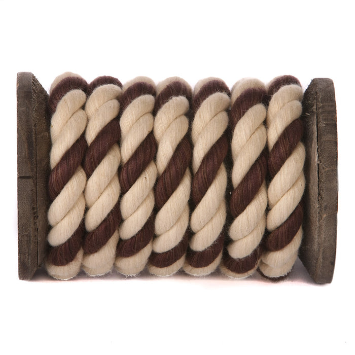 Twisted Cotton Rope (Tan, Tan & Brown)