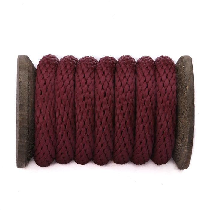 Solid Braid Polypropylene Utility Rope (Burgundy)